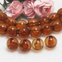 Beads, Imitation Crystal beads, Acrylic, brown, Spherical, Diameter 8mm, 10g, 40 Beads, (SLZ0472)